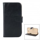 DYTI-006 Protective Flip Open PU + PC Case for Samsung i9300 - Black