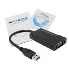 CY U3-142 USB 3.0 mann VGA kvinnelige Video grafikk Card-skjermkort kabel for Vinduer 7 / 8