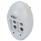 BTY 929 Dual 6FCC 9V Battery Charger - White (US Plug / 2-Flat-Pin Plug)