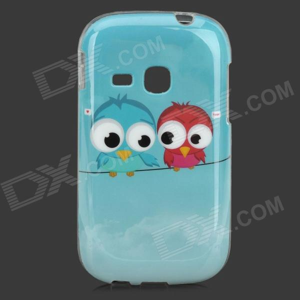 Cute Cartoon Birds Style Protective TPU Back Case for Samsung S6310 - Sky Blue - DXTPU Cases<br>Color Sky Blue + White + Multi-Colored Brand N/A Model N/A Material TPU Quantity 1 Piece Compatible Models Samsung S6310 Other Features Protects your device from scratches dust and shock Packing List 1 x Protective case<br>
