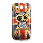 Owl Pirate UK National Flag Style Protective TPU Back Case for Samsung Galaxy S3 i9300 - Red + Blue