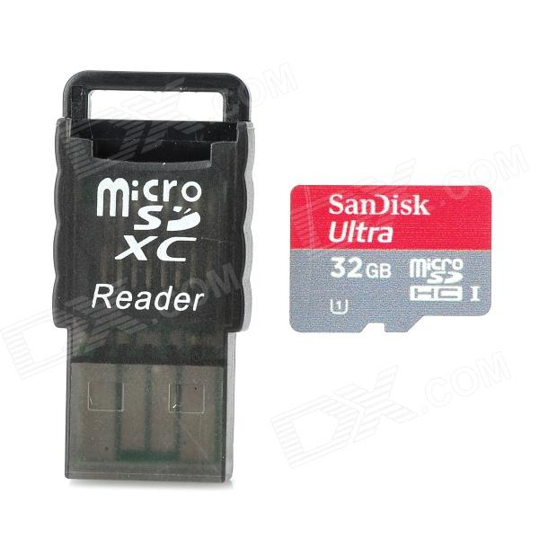 SanDisk Ultra Micro SDHC / TF Memory Card w/ 32GB (Class 10) sandisk tf class10 16gb ultra micro sdhc card w card reader red grey