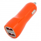 YI-YI Mini Car Cigarette Lighter Charger w/ Dual USB - Orange