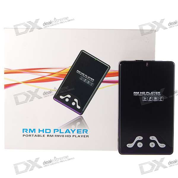 "2.5"" SATA HDD RM/RMVB PMP Media Player with HDMI/USB Host/SD+MMC Slots"