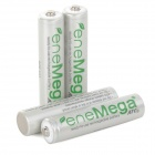 eneMega Rechargeable AAA 800mAh 1.2V Ni-MH Batteries - White + Green (4 PCS)
