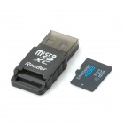 Samsung Micro SD / TF 4GB Class 4 Card + Card Reader Set - черный (4 Гб)