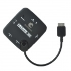 QUICKMAN OG-008 Micro USB 3.0 9-Pin Card Reader + 3-Port USB 2.0 Hub for Samsung Galaxy Note 3-Black