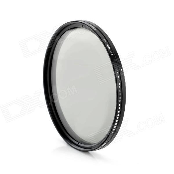 ND2-400 Variable ND Filter for 82mm Lens Camera - Black + Transparent f14506 zomei ultra slim hd 18 layer super multi coated glass density neutral gray nd1000 lens filter 82mm for digital camera fs
