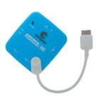 QUICKMAN OG-008 Micro USB 3.0 9-Pin Card Reader + 3-Port USB 2.0 Hub for Samsung Galaxy Note 3 -Blue