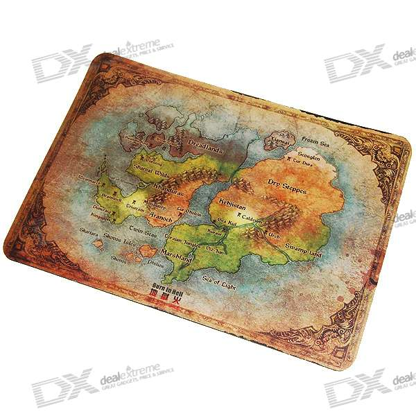 Burn In Hell D3 Gaming Mouse Pad (Map)