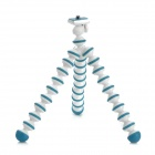 Universal Mini ABS Tripod for Digital Camera / Video Camera - White + Blue