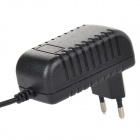 EU Plug Micro USB Output Power Adapter for Cellphone/Tablet PC - Black