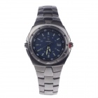 NABIX S001G Stylish Stainless Steel Men's Quartz Wrist Watch w/ Simple Calendar - Silver + Blue