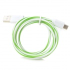 USB to Micro USB Data/Charging Cable for Samsung / HTC + More - White + Green