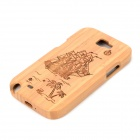 Sailing + Coconut Tree Pattern Protective Bamboo Back Case for Samsung Galaxy Note 2 N7100 - Wood
