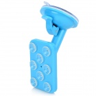 Convenient Universal Suction Cup Plastic Desktop / Car Holder for Cellphone - Blue