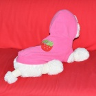 JUQI Strawberry Pattern Pet's Dog Cat Fleece Warm Hoodie Clothes - Deep Pink + Red