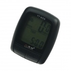 "BoGeer YT-606 1.7"" LCD Electronic Bicycle Speedometer - Black (1 x CR2032)"