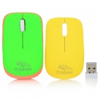RF-2813C 2.4GHz Mini 1600DPI Wireless Mouse - Green + Yellow