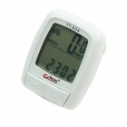 "BoGeer YT-606 1.7"" LCD Electronic Bicycle Speedometer - White (1 x CR2032)"
