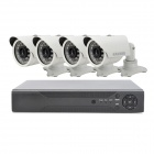 KAVASS CLG-A365 D1 Home Security Monitoring 4-Channel DVR System + 4 Cameras Kit - White (PAL)