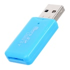 USB 2.0 TF Micro SD Card Reader - Blue (32GB)