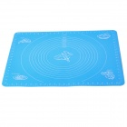 Handy Thick Heat-resistant Silicone Ovenware Chopping Board Pad Mat w/ Scale - Blue