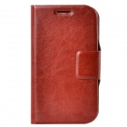 Dikuka PU Leather Case Cover Stand w/ Strap / Card Slot for Samsung Galaxy Win i8552 - Brown