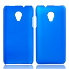 Fashionable Super Thin Protective Glaze PC Back Case for HTC Desire 700 - Deep Blue