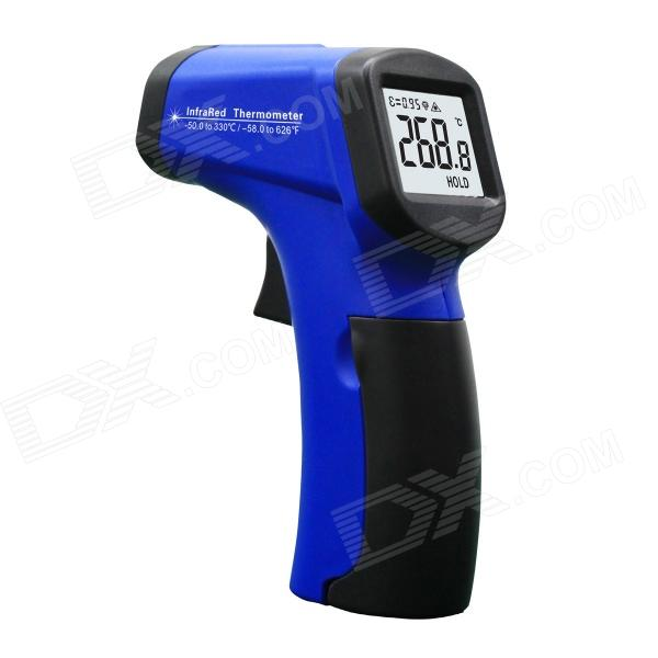 "MIT130 1.2"" LED Mini Wireless Handheld Infrared Laser Thermometer - Black + Blue (1 x 9V)"