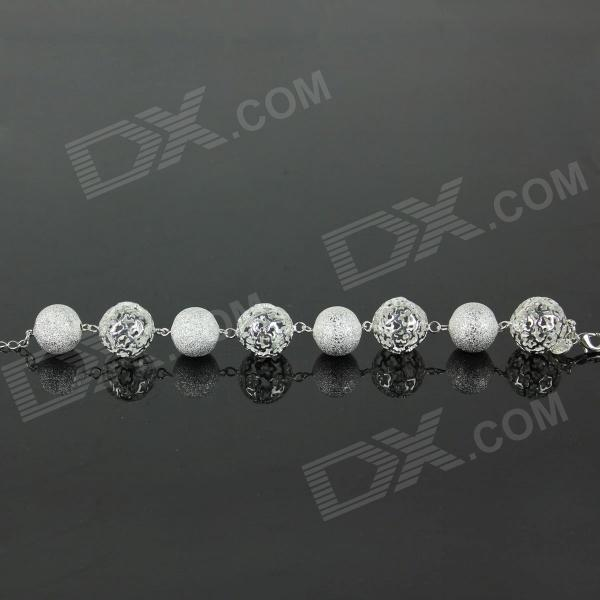 Thread Empty Ball Bracelet - Silver