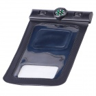 Professional PVC Waterproof Bag w/ Compass for Samsung Galaxy S4 i9500 - Black