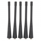 Replacement DIY Rubber Shell Antenna for Walkie-talkie w/ SMA Female Connector - Black (5 PCS)