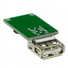 Produino USB 1200mA DC 2~5V to DC 5V Voltage Step up Boost Module - Green + Silver