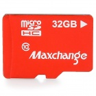 Max Change 32GB CLASSE 10 Carte Micro SD TF - Rouge