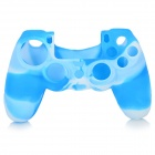 Anti-Slip Protective Silicone Case Cover for PS4 - Blue + White