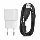 Universal USB AC Power Charger Adapter + Micro USB Cable for Samsung / HTC + More (EU Plug)