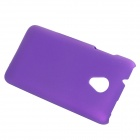 Fashionable Super Thin Protective Glaze PC Back Case for HTC Desire 700 - Purple