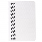 Stylish Plaid Pattern PU Leather + Plastic Case for IPAD MINI 1 / 2 - White + Black