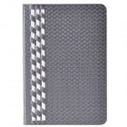 Stylish Plaid Pattern PU Leather + Plastic Case for IPAD MINI 1 / 2 - Grey+White