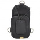 Zhongxing Canvas Walkie Talkie w/ Waist Strap - Black (Size M)
