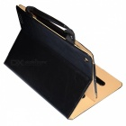 Protective PU Leather Case w/ Handbag / Peripherals Pockets for IPad 2 / 3 / 4 - Black