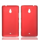 Fashionable Super Thin Protective Glaze PC Back Case for Nokia Lumia 1320 - Claret Red