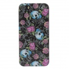 Stylish Colored Drawing Rose + Skull Style Protective Plastic Case for IPHONE 5 /5s - Multicolored