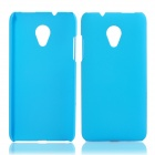 Fashionable Super Thin Protective Glaze PC Back Case for HTC Desire 700 - Light Blue