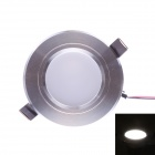 JOYDA-XD-WH3W 3W 310lm 6000K 3-LED White Ceiling Light - Silver + White (AC 85~265V)