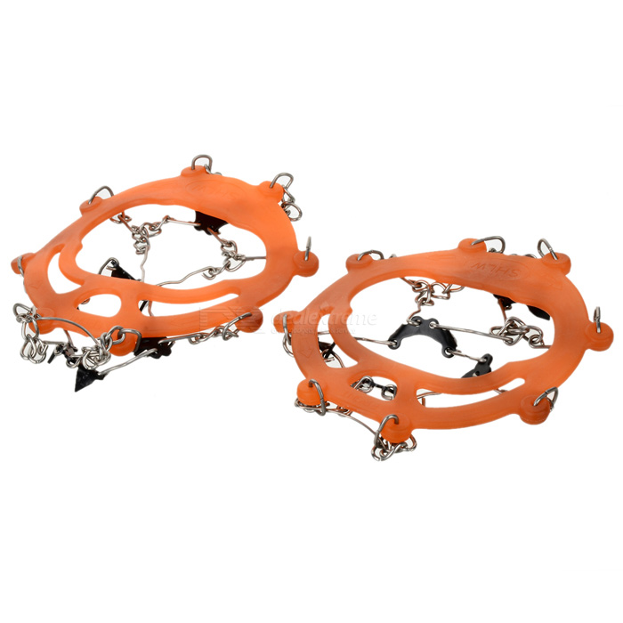 HARLEM HL1088 Outdoor Ice Climbing / Mountaineering Shoes Chain Cleat Crampons (Size 44 / Pair)