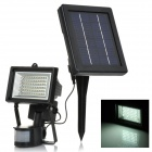 Light Control / Body Sensor 6W 60-LED 400lm White Solar Spotlight - Black