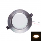 JOYDA-XD-WW5W 5W 500lm 3000K 5-LED Warm White Ceiling Light - Silver + White (AC 85~265V)