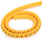 2.5mm A~Z Letters Number Tubes Set - Black + Golden